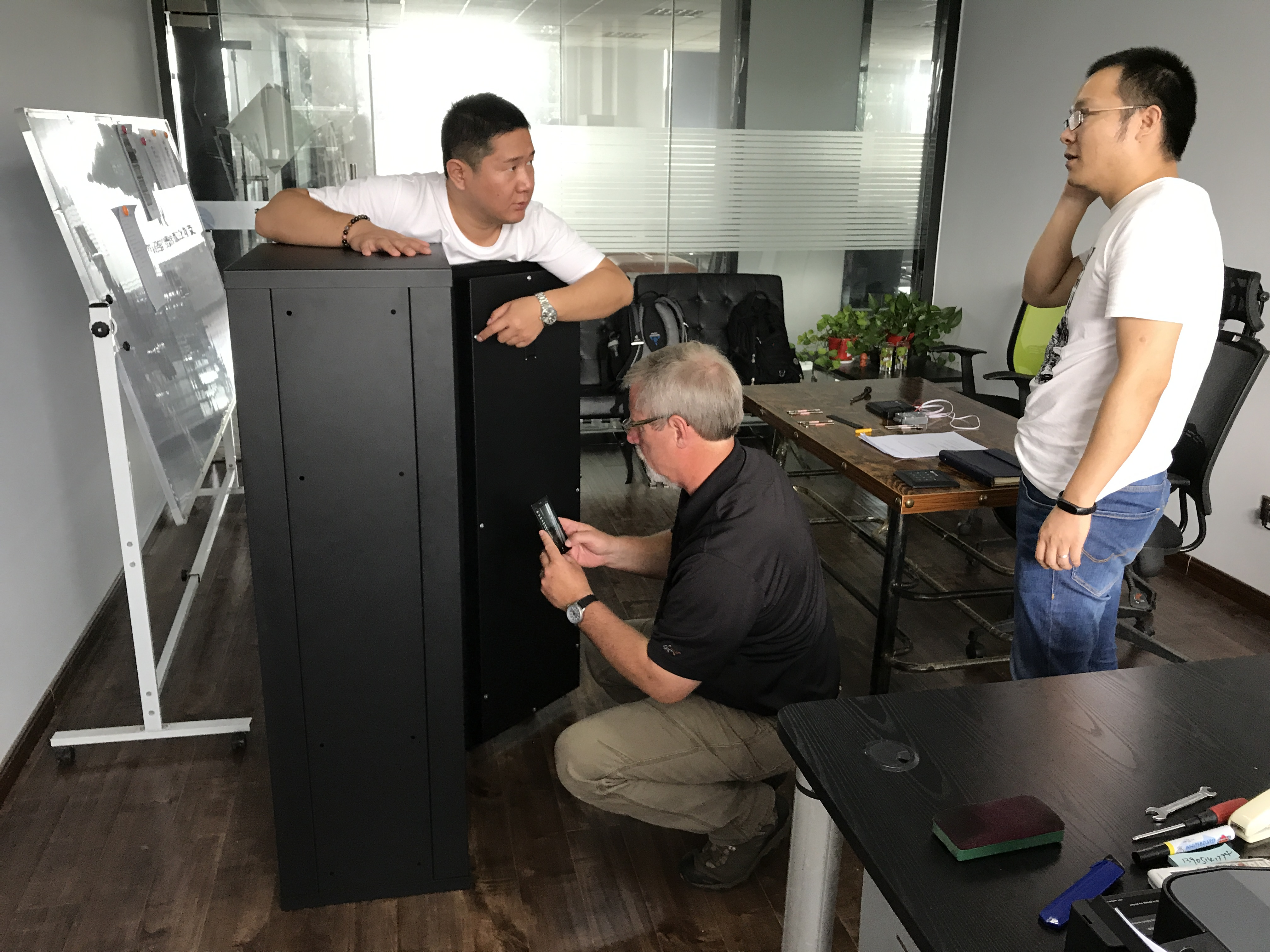 Customer inspection of factory prototype